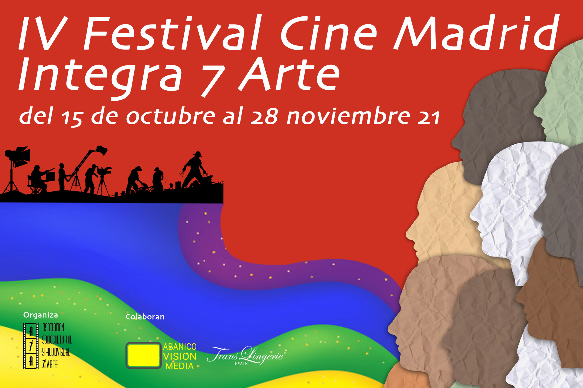 Cartel IV Festival Cine Madrid Integra 7Arte